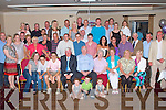 80TH BIRTHDAY: Mike Moriarty, Hemel Hampstead, England originally Caherina, Tralee (seated centre), enjoying a great with a large group of family and friends at the Kerins O'Rahillys clubhouse, Tralee on Saturday.