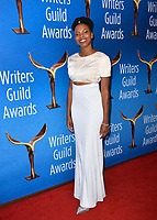 LOS ANGELES, CA. February 17, 2019: Sasheer Zamata at the 2019 Writers Guild Awards at the Beverly Hilton Hotel.<br /> Picture: Paul Smith/Featureflash