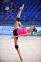 Daria Kondakova of Russia performs with rope during training day at 2010 Holon Grand Prix at Holon, Israel on September 2, 2010.  (Photo by Tom Theobald).