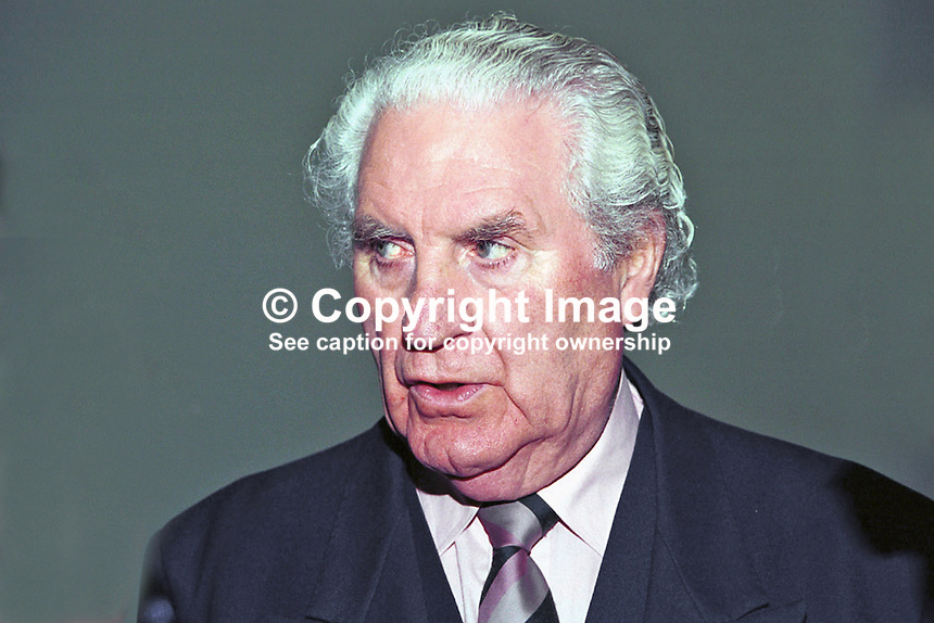 John Wilson, Fianna Fail, Vice Chairman, Former TD, Former Minister.Rep of Ireland, Ref: 199811007.<br /> <br /> Copyright Image from Victor Patterson, 54 Dorchester Park, Belfast, UK, BT9 6RJ<br /> <br /> t: +44 28 90661296<br /> m: +44 7802 353836<br /> vm: +44 20 88167153<br /> e1: victorpatterson@me.com<br /> e2: victorpatterson@gmail.com<br /> <br /> For my Terms and Conditions of Use go to www.victorpatterson.com