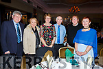 Niellie and Sheila O'Connell (Beaufort), Noreen and Bill O'Riordan (Gneeveguilla), Pasty and Joan O'Connor (Scartaglin) enjoying the Kerry Supporters Social in the Ballygarry House Hotel on Saturday night.