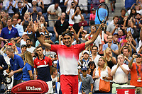 FLUSHING NY- AUGUST 31: Roger Federer Vs Mikhail Youzhny during the 2017 US Open Tennis at the USTA Billie Jean King National Tennis Center on August 31, 2017 in Flushing Queens. Credit: mpi04/MediaPunch ***NO NY DAILIES***