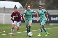 Lisa Evans of Arsenal during West Ham United Women vs Arsenal Women, FA Women's Super League Football at Rush Green Stadium on 6th January 2019