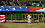 Ichiro Suzuki (Marlins),<br /> APRIL 8, 2015 - MLB :<br /> Ichiro Suzuki of the Miami Marlins listens to the national anthem before the Major League Baseball game against the Atlanta Braves at Marlins Park in Miami, Florida, United States. (Photo by AFLO)