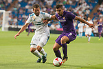 Real Madrid's Nacho Fernandez and Fiorentina's Giovanni Simeoni during XXXVIII Santiago Bernabeu Trophy at Santiago Bernabeu Stadium in Madrid, Spain August 23, 2017. (ALTERPHOTOS/Borja B.Hojas)
