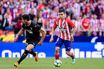 Angel Correa of Atletico de Madrid (R) runs with the ball during the La Liga match between Atletico Madrid and Eibar at Wanda Metropolitano Stadium on May 20, 2018 in Madrid, Spain. Photo by Diego Souto / Power Sport Images