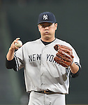 Masahiro Tanaka (Yankees),<br /> AUGUST 28, 2015 - MLB : Masahiro Tanaka of the New York Yankees in action during the Major League Baseball inter league game against the Atlanta Braves  at Turner Field in Atlanta, United States.<br /> (Photo by AFLO)