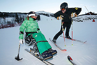 Meeting old friends on the slope. Professional freeride skier and BASE jumper Karina Hollekim tries a sit ski for the first time at the ski resort of Hemsedal. Karina was seriously hurt in a parachute accident in Switzerland in September 2006. She was told by doctors she would never walk again, but Karina refused to accept this and proved the doctors wrong. She is intent on reclaiming as much of her life back as possible.