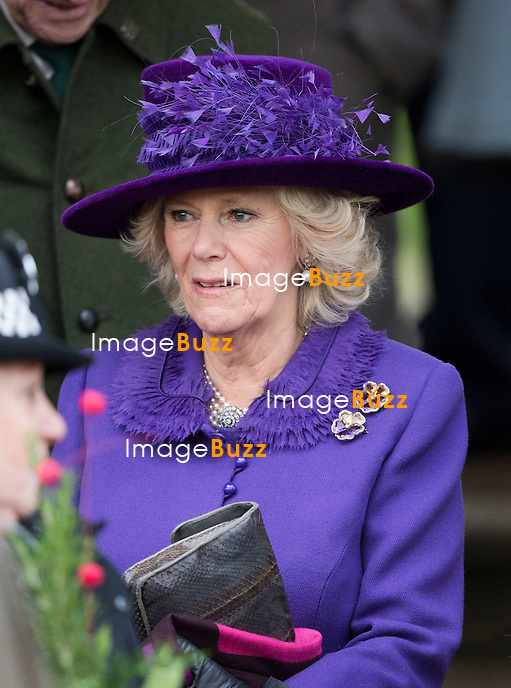 BRITISH ROYALS ATTEND CHRISTMAS DAY SERVICE - .Members of the British royal family attend Christmas Day Church Service at St. Mary Magdalene's on the Sandringham Estate..They included The Queen Elizabeth II, Prince Philip, Prince Charles, Camilla, Duchess of Cornwall, Princess Anne, Prince Edward, Sophie, Countess of Wessex, Lady Louise, Prince Andrew, Zara Phillips, Mike Tindall, Peter Phillips and Autumn. London, December 25, 2012..