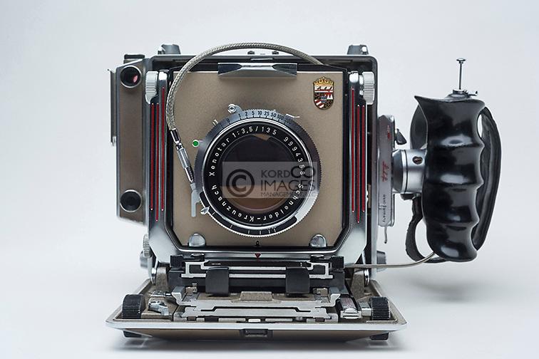 LINHOF SUPER TECHNIKA IV LARGE FORMAT RANGE FINDER FILM VIEW CAMERA (©LINHOF GMBH 1956)