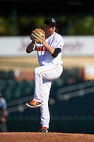 Jupiter Hammerheads starting pitcher Jeff Brigham (34) during a game against the Palm Beach Cardinals on August 13, 2016 at Roger Dean Stadium in Jupiter, Florida.  Jupiter defeated Palm Beach 6-2.  (Mike Janes/Four Seam Images)
