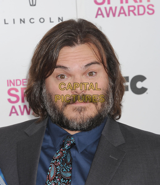 Jack Black.2013 Film Independent Spirit Awards - Arrivals Held At Santa Monica Beach, Santa Monica, California, USA,.23rd February 2013..indy indie indies indys portrait headshot blue shirt paisley tie grey gray suit beard facial hair .CAP/ROT/TM.© TM/Roth/Capital Pictures