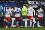 10.03.2019,  GER; 2. FBL, FC St. Pauli vs Hamburger SV ,DFL REGULATIONS PROHIBIT ANY USE OF PHOTOGRAPHS AS IMAGE SEQUENCES AND/OR QUASI-VIDEO, im Bild Douglas Santos (Hamburg #06) schiesst das 4-0 fuer Hamburg und jubelt mit der Mannschaft Foto © nordphoto / Witke
