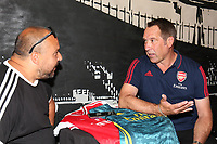 Arsenal legend David Seaman speaks to the press during the Arsenal FC 2019-20 Adidas Home Kit Launch at the Armoury Shop, Emirates Stadium on 1st July 2019