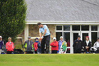 Eoin Flanagan (Tullamore) on the 1st tee during the Final round of the Irish Mixed Foursomes Leinster Final at Millicent Golf Club, Clane, Co. Kildare. 06/08/2017<br /> Picture: Golffile | Thos Caffrey<br /> <br /> <br /> All photo usage must carry mandatory copyright credit      (&copy; Golffile | Thos Caffrey)