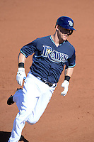 Tampa Bay Rays outfielder Jerry Sands (68) during a spring training game against the Minnesota Twins on March 2, 2014 at Charlotte Sports Park in Port Charlotte, Florida.  Tampa Bay defeated Minnesota 6-3.  (Mike Janes/Four Seam Images)