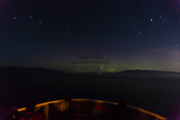 The northern lights seen in Alaska's Inside Passage aboard the National Geographic Sea Bird