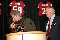 14 January 2007: T.C. Ostrander's father at the annual football banquet at McCaw Hall in Stanford, CA.