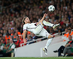 Basel's Michael Lang in action during the Champions League group A match at the Emirates Stadium, London. Picture date September 28th, 2016 Pic David Klein/Sportimage