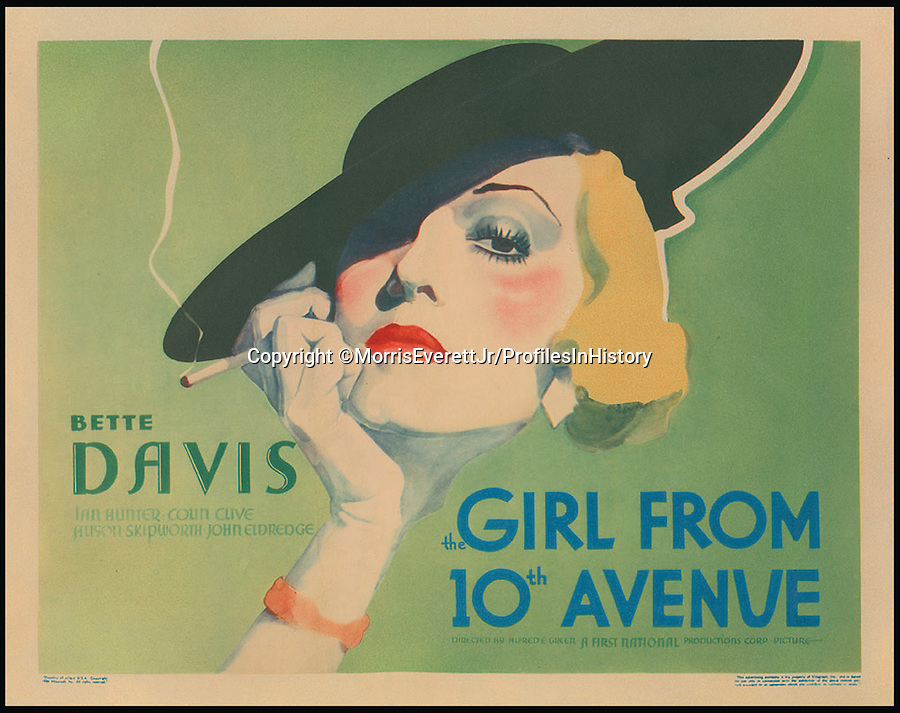 BNPS.co.uk (01202 558833)<br /> PIc: MorrisEverettJr/ProfilesInHistory/BNPS<br /> <br /> ***Please Use Full Byline***<br /> <br /> Girl From 10th Avenue (1935). <br /> <br /> The world's largest collection of movie posters boasting artwork from almost every single film made in the last century has emerged for sale for &pound;5 million.<br /> <br /> The colossal archive features 196,000 posters from more than 44,000 films, and has been singlehandedly pieced together by one avid collector over the last 50 years.<br /> <br /> Morris Everett Jr has dedicated his life's work to seeking out original posters from every English-speaking film ever made and compiling them into a comprehensive library.<br /> <br /> The sale is tipped to make $8 million - around &pound;5 million pounds - when it goes under the hammer in one lot at Califonia saleroom Profiles in History on December 17.