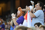 OMAHA, NE - JUNE 26: Fans cheer as Louisiana State University takes on the University of Florida during the Division I Men's Baseball Championship held at TD Ameritrade Park on June 26, 2017 in Omaha, Nebraska. The University of Florida defeated Louisiana State University 4-3 in game one of the best of three series. (Photo by Justin Tafoya/NCAA Photos via Getty Images)