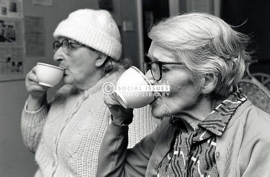 Elderly day centre, New Basford Community Centre, Nottingham UK 1987