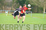 David Crowley Kenmare is challenged by John Egan Ardfert during their Div 2 relegation play off in Listry on Sunday