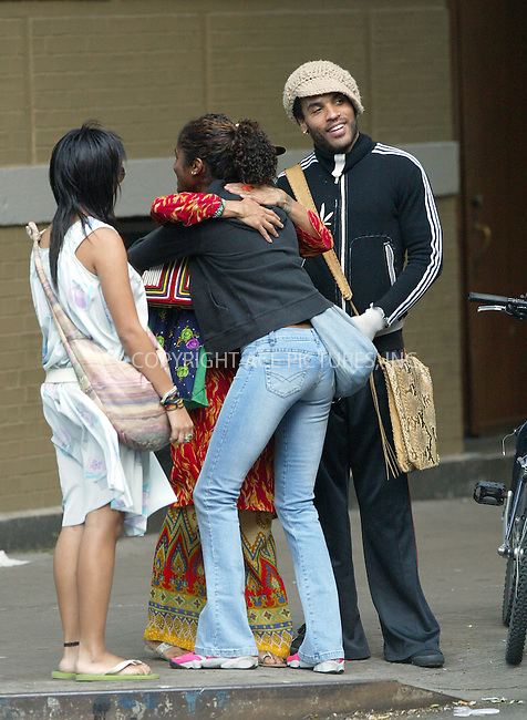 WWW.ACEPIXS.COM . . . . .  ..USA RIGHTS ONLY . . . . . EXCLUSIVE, FEE MUST BE AGREED BEFORE USE . . . . . NEW YORK, SEPTEMBER 7, 2004. ..Happy looking rocker LENNY KRAVITZ, who has a slogan 'Lost Angel' written on the back of his jacket, spending some great moments with his ex-wife LISA BONET and their daughter ZOE. The happy trio were seen taking a long stroll through NoHo and then East Village. They were all smiles and kept hugging each other as they made their way through the streets of Manhattan. Please byline: Cedric Eibeinder - ACE PICTURES..... *** ***..Ace Pictures, Inc:  ..Alecsey Boldeskul (646) 267-6913 ..Philip Vaughan (646) 769-0430..e-mail: info@acepixs.com..web: http://www.acepixs.com