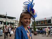 LOUISVILLE, KY - MAY 06: Jockey Corey Lanerie's daughter on Kentucky Derby Day at Churchill Downs on May 6, 2017 in Louisville, Kentucky. (Photo by Jesse Caris/Eclipse Sportswire/Getty Images)
