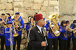 Israel, Lod, a marching band playing on the day of St. George
