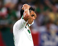 Omar Bravo (19) after missing a penalty kick for Mexico. Portugal defeated Mexico 2-1 in their FIFA World Cup Group D match at FIFA World Cup Stadium, Gelsenkirchen, Germany, June 21, 2006.