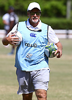 Robert du Preez (Head Coach) of the Cell C Sharks during the cell c sharks pre season training session at  Growthpoint Kings Park ,22,01,2018 Photo by Steve Haag)