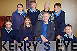 ENGAGING: Students of St Joseph's School in Ballybunion engaging with older people at the Towers Centre as part of a new inter-generational project, front l-r: John Griffin, Lindsay Kearney, Teddy Harty, James Keane. Back l-r: Megan Barry, Lee Sugrue, Kitty Kelly, Corey Meehan.