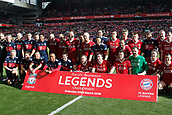 24th March 2018, Anfield, Liverpool, England; LFC Foundation Legends Charity Match 2018, Liverpool Legends versus FC Bayern Legends; The two teams line up before the game