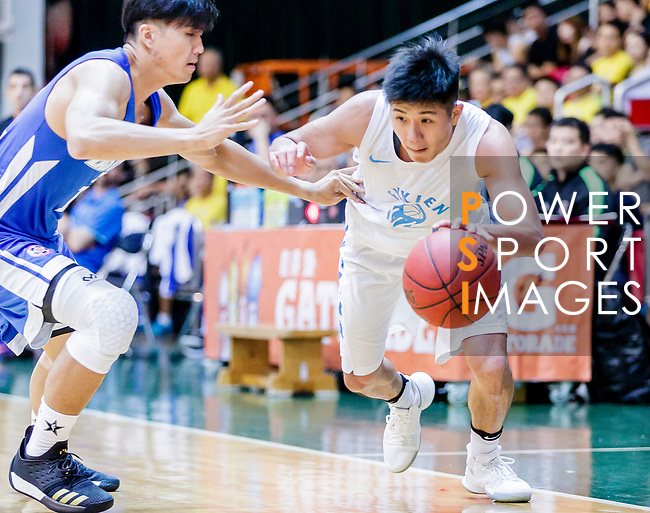 Lam Yu #4 of Fukien Basketball Team goes to the basket against the Eastern Long Lions during the Hong Kong Basketball League game between Fukien and Eastern Long Lions at Southorn Stadium on June 19, 2018 in Hong Kong. Photo by Yu Chun Christopher Wong / Power Sport Images