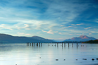 Ben Lomond and Loch Lomond from Loch Lomond Shores, Balloch, Loch Lomond and the Trossachs National Park, West Dunbartonshire