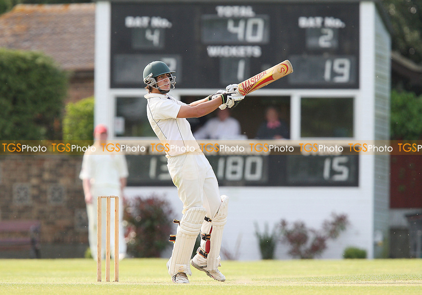 A Jabar bats for Upminster and keeps the scoreboard ticking over - Wickford CC vs Upminster CC - Essex Cricket League Cup - 02/05/09 - MANDATORY CREDIT: Gavin Ellis/TGSPHOTO - Self billing applies where appropriate - 0845 094 6026 - contact@tgsphoto.co.uk - NO UNPAID USE.