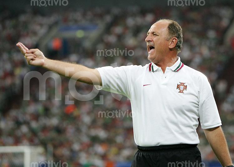 Fussball WM 2006  Gruppenspiel  Vorrunde Portugal - Mexiko Trainer Luiz Felipe SCOLARI (MEX)