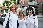 Crystal Hunt poses with her mom Nada and Godmother Debbie at the OLTL Studios, New York City, New York. Both Crystal's mom Nada and Godmother Debbie had cancer - (Photo by Sue Coflin/Max Photos)
