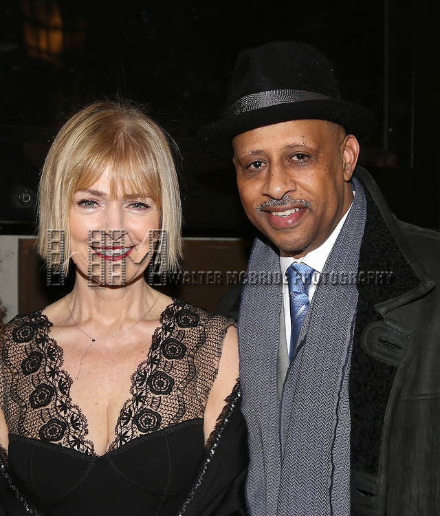 Jeannie Brittan and Ruben Santiago-Hudson attend the Manhattan Theatre Club's Broadway debut of August Wilson's 'Jitney' at the Samuel J. Friedman Theatre on January 19, 2017 in New York City.