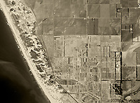 historical aerial photograph Oxnard, Ventura county, California, 1947