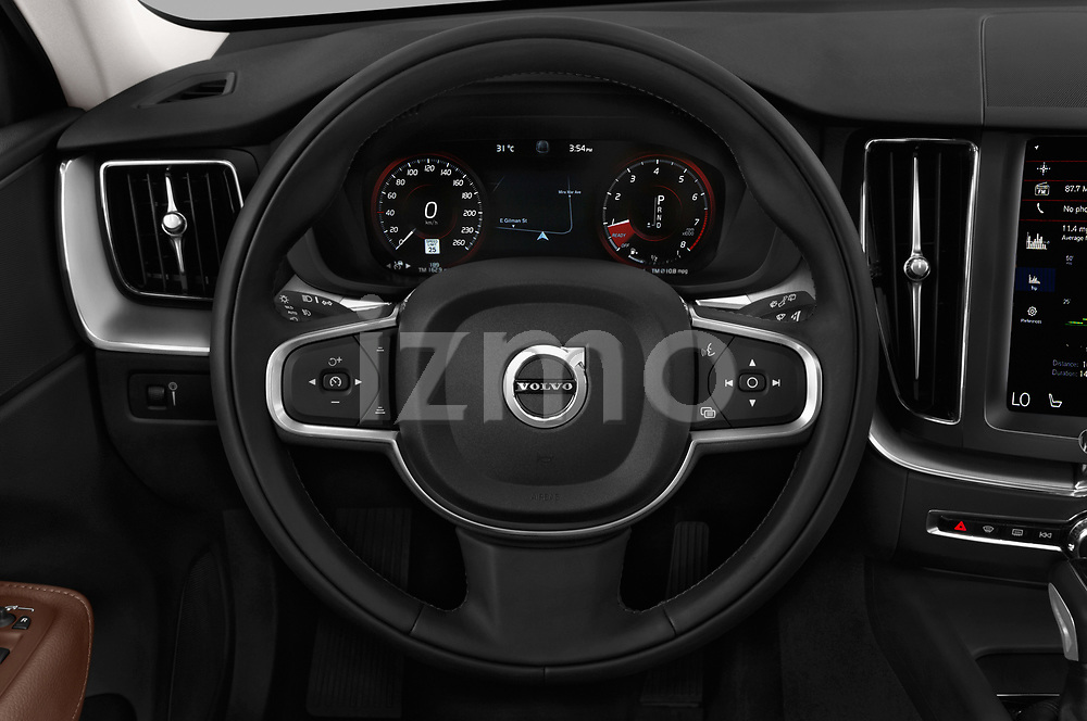Car pictures of steering wheel view of a 2018 Volvo XC60 T5 Momentum 4WD 5 Door SUV