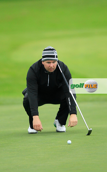 Michael McDermott (Pure Golf Leopardstown) on the 15th during Round 3 of The Cassidy Golf 103rd Irish PGA Championship in Roganstown Golf Club on Saturday 12th October 2013.<br /> Picture:  Thos Caffrey / www.golffile.ie