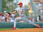 1 March 2009: St. Louis Cardinals' relief pitcher Ian Ostlund on the mound during a Spring Training game against the Florida Marlins at Roger Dean Stadium in Jupiter, Florida. The Cardinals outhit the Marlins 20-13 resulting in a 14-10 win for the Cards. Mandatory Photo Credit: Ed Wolfstein Photo