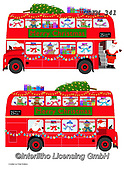 Kate, CHRISTMAS SANTA, SNOWMAN, WEIHNACHTSMÄNNER, SCHNEEMÄNNER, PAPÁ NOEL, MUÑECOS DE NIEVE, paintings+++++London bus passenger side,GBKM341,#x# ,bus
