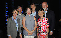 NWA Democrat-Gazette/CARIN SCHOPPMEYER April and Craig Shy (from left), Rhonda and Tim O'Donnel and Terri and Mike Johnson gather at the June 14 reception in the Walton Arts Center's Starr Theater.
