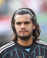 Argentina goalkeeper Sergio Romero (1). In an international friendly (Clash of Titans), Argentina defeated Brazil, 4-3, at MetLife Stadium on June 9, 2012.