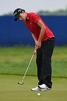 Carlota Ciganda (ESP) sinks her putt on 1 during round 4 of the KPMG Women's PGA Championship, Hazeltine National, Chaska, Minnesota, USA. 6/23/2019.<br /> Picture: Golffile | Ken Murray<br /> <br /> <br /> All photo usage must carry mandatory copyright credit (© Golffile | Ken Murray)
