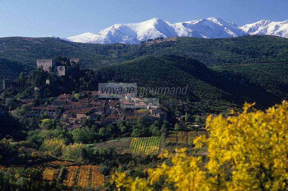 Europe/France/Languedoc-Roussillon/66/Pyrénées -Orientales/Castelnou : Massif du Canigou