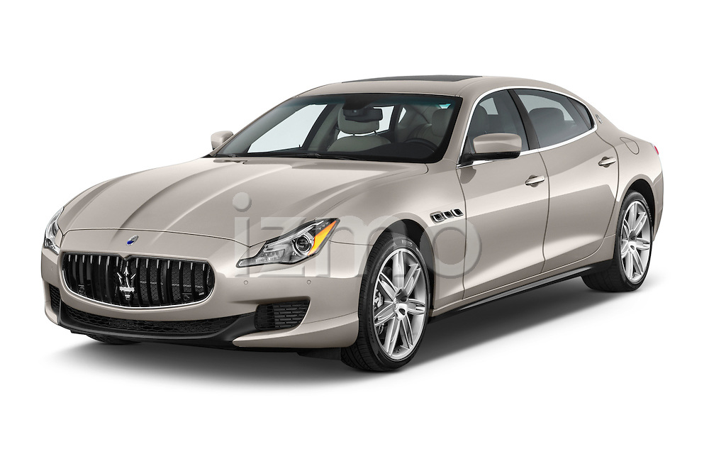 2014 Maserati Quattroporte SQ4 4 Door Sedan Angular Front stock photos of front three quarter view